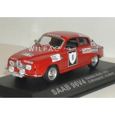 SAAB 96 1972 V4 Sweden Rally Blomqvist Hertz Altaya 1:43