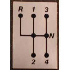 Sticker schakelschema M40+M41+M45+M46 ZILVERKLEURIG