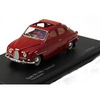 SAAB 96 1961 rood met open dak Trofeu NC030