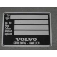 Chassisnummer typeplaatje Volvo PV544 Amazon P1800 +ES remake