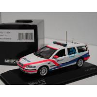 Volvo V70 2000 Politie Geneve Police Zwitserland Minichamps 1:43