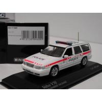 Volvo V70 1998 Classic Police / Politie CH Vaudoise  Minichamps 1:43