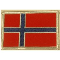 Badge Noorse vlag RH GEBORDUURD-OPSTRIJKBAAR