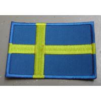 Badge Zweedse vlag / geborduurd / opstrijkbaar / rechthoek RH