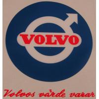 Sticker Volvo's värde varar + Volvo logo