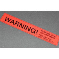 Sticker WARNING rotating fan Volvo 240 waarschuwing draaiende koelvin