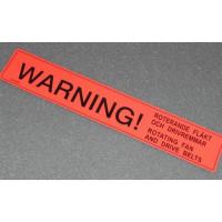 Sticker WARNING rotating fan...