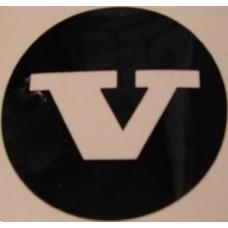 Sticker wieldop open V univers. 42 mm.