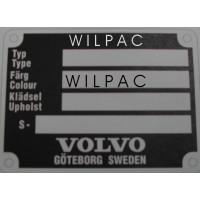 Chassisnummer typeplaatje Volvo Amazon 67+ 140 164 remake