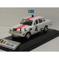 Volvo 144 1970 Politie Gendarmerie Belgie obv Whitebox 1:43