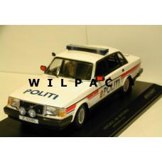 Volvo 240 1:18 240GL 244 POLITI Noorse Politie Minichamps blauw rood wit