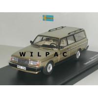 Volvo 245 240 Estate 1988 GL Polar goud metallic Triple 9 1:43