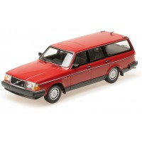 Volvo 240 1:18 240GL 245 Estate 1986 rood Minichamps