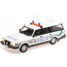 Volvo 240 1:18 240GL 245 POLIS Zweedse Politie Minichamps