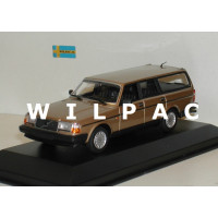 Volvo 245 240 Estate 1986 goud metallic MAXIchamps 1:43