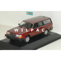 Volvo 245 240 Estate 1986 donker rood metallic MAXIchamps 1:43