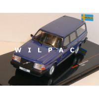 Volvo 245 240 Polar Estate 1988 blauw metallic Ixo 1:43