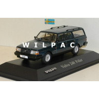 Volvo 245 240 Polar Estate 1985 blauw metallic Atlas 1:43