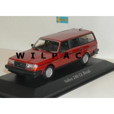 Volvo 245 240 Estate 1986 rood MAXIchamps 1:43