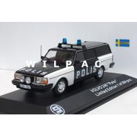 Volvo 245 240 Estate Polis Zweedse Politie Triple 9 1:43