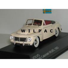 Volvo PV445 1953 Valbo cabrio crème WhiteBox 1:43