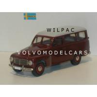 Volvo PV445 Duett 1953 rood grijs Rob Eddie RE07 1:43