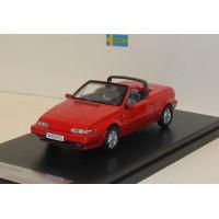 Volvo 480 Cabrio 1987 rood Premium X 1:43
