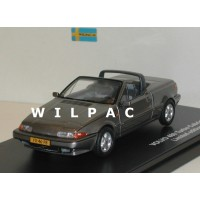 Volvo 480 Turbo Cabrio 1990 grijs metallic Triple 9 1:43
