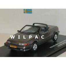 Volvo 480 Turbo Cabrio 1990 grijs metallic Triple 9 1:43