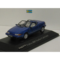 Volvo 480 Cabrio 1990 blauw metallic Atlas #45 1:43