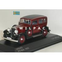Volvo PV654 rood / zwart 1933 Whitebox 1:43