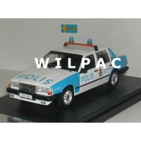 Volvo 740 Turbo Polis Zweedse politie Stockholm 1985 Premium X 1:43