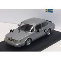 SAAB 900 Turbo Aero Coupe 1:43 1985 zilvergrijs metallic Ministyle