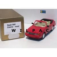 SAAB 900 Cabrio rood o.b.v. Delprado 1:43