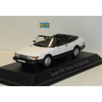 SAAB 900 Cabrio Turbo 16 wit 1992 Norev 1:43