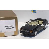 SAAB 900 Cabrio zwart o.b.v. Delprado 1:43
