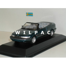 SAAB 900 Cabrio 1995 blauw metallic Minichamps 1:43