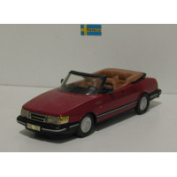 Saab 900 Cabrio Turbo donkerrood 1987 Somerville 1:43