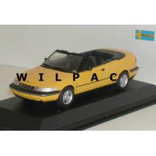SAAB 900 Cabrio geel SMCC Minichamps 1:43