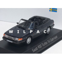 SAAB 900 Cabrio Turbo 16 donker blauw 1992 Norev 1:43