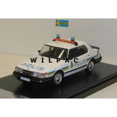 Saab 900i Polis Zweedse politie Stockholm 1987 Premium X 1:43