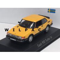 SAAB 900 Turbo 16 geel 1991 Norev 1:43