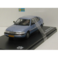 Saab 900 V6 1994 blauw metallic Triple 9 1:43