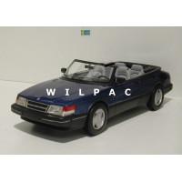 SAAB 900 Cabrio S Cabrio blauw metallic 1987 BoS Best of Show 1:18