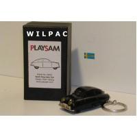 SAAB 92 001 Ursaab 1947 zwart / sleutelhanger met lampjes Playsam Alskog 1:64