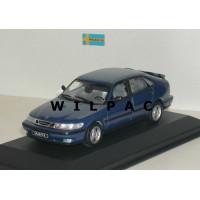 SAAB 9-3 1999 5 deurs blauw metallic Minichamps 1:43