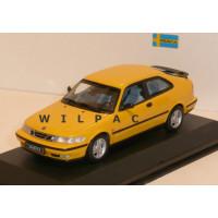 Saab 9-3 Coupe geel 1998 Minichamps 1:43