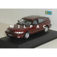 SAAB 9-3 1999 SE Turbo 5 deurs Cayenne rood metallic SMCC Minichamps 1:43