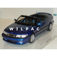 SAAB 9-3 Viggen Cabrio blauw metallic 1999 DNA Collectibles 1:18