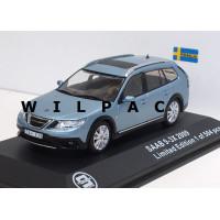 Saab 9-3X 2009 licht blauw grijs metallic Triple 9 1:43